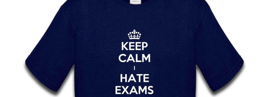 I hate exams
